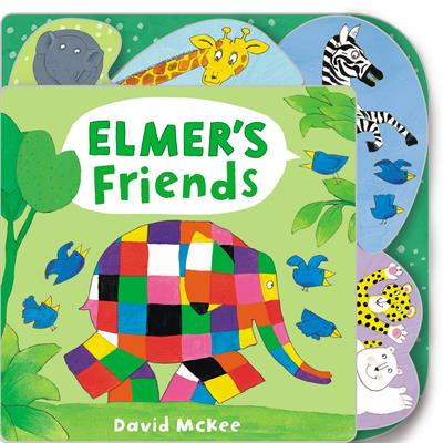 Elmer's Friends: Tabbed Board Book