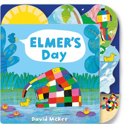 Elmer's Day: Tabbed Board Book