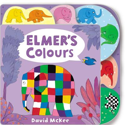 Elmer's Colours: Tabbed Board Book