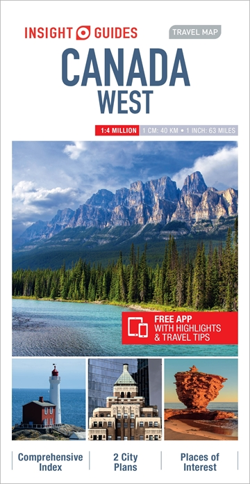 Travel Map Of Canada.Insight Guides Travel Map Canada West Insight Guides Private