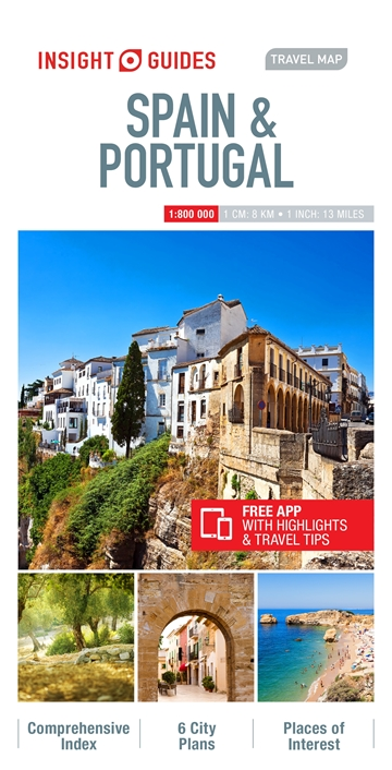 Travel Map Of Spain.Insight Guides Travel Map Of Spain Portugal Insight Guides