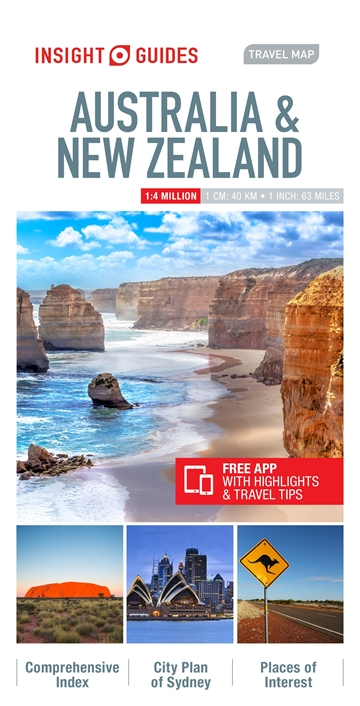 Travel Map New Zealand.Insight Guides Travel Map Australia New Zealand Insight Guides