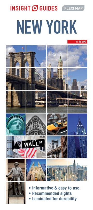 Map Of New York City With Landmarks.Insight Guides Flexi Map New York City Nyc Map Insight Guides