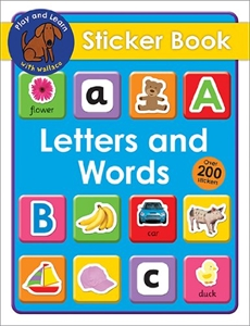 Letters and Words Sticker Book
