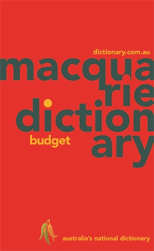 Macquarie Dictionary: Macquarie Budget Dictionary (PVC)
