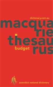 Macquarie Budget Thesaurus (PVC)