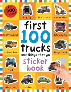 First 100 Trucks Sticker Book