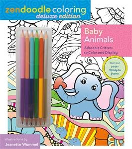 Zendoodle Coloring: Baby Animals