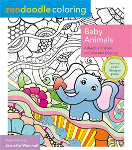 Zendoodle Coloring: Baby Animals