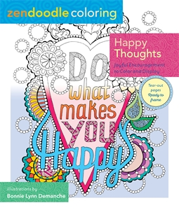 Zendoodle Coloring: Happy Thoughts
