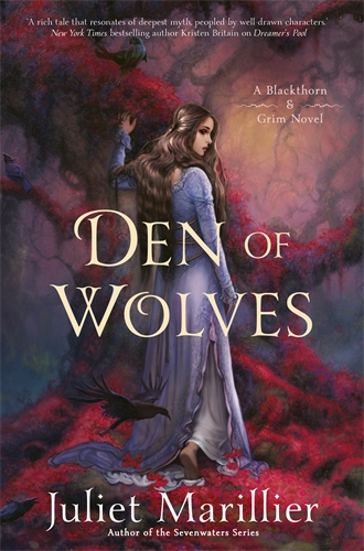 Den of Wolves — a girl reaches up to a tree while she walks slowly away