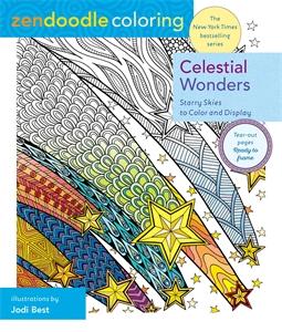 Zendoodle Coloring: Celestial Wonders