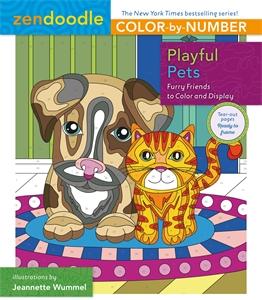 Zendoodle Color-by-Number: Playful Pets