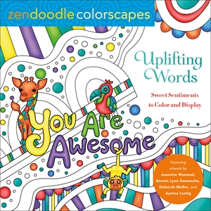 Deborah Muller: Zendoodle Colorscapes: Uplifting Words