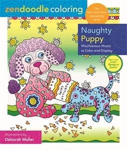Deborah Muller: Zendoodle Coloring: Naughty Puppy