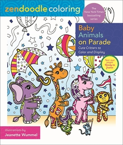 Jeanette Wummel: Zendoodle Coloring: Baby Animals on Parade