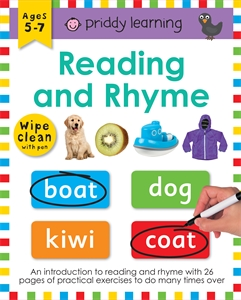 Roger Priddy: Reading and Rhyme: Wipe Clean Workbook