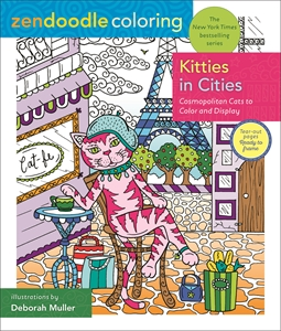 Deborah Muller: Zendoodle Coloring: Kitties in Cities