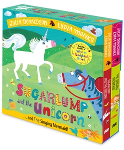 Julia Donaldson: Sugarlump and the Unicorn and The Singing Mermaid Board Book Slipcase