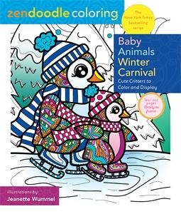 Jeanette Wummel: Zendoodle Coloring: Baby Animal Winter Carnival