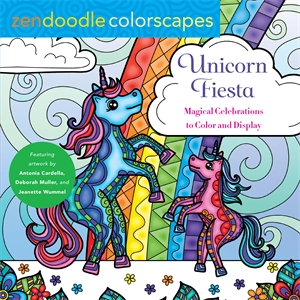 Deborah Muller: Zendoodle Colorscapes: Unicorn Fiesta