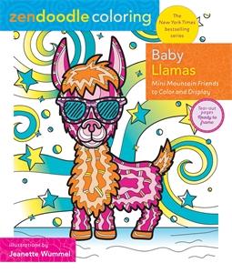 Jeanette Wummel: Zendoodle Coloring: Baby Llamas