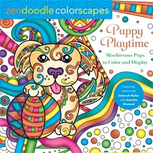 Jeanette Wummel: Zendoodle Colorscapes: Puppy Playtime