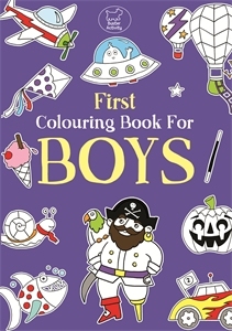 First Colouring Book For Boys by