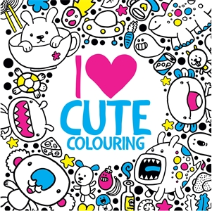I Heart Cute Colouring by Jess Bradley
