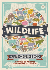 Wildlife: A Map Colouring Book by Natalie Hughes