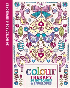 Colour Therapy Notecards by Lizzie Preston and Chellie Carroll