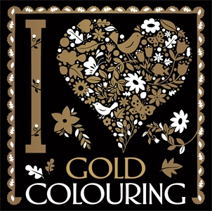I Heart Gold Colouring by Sarah Wade, Lizzie Preston, Chellie Carroll
