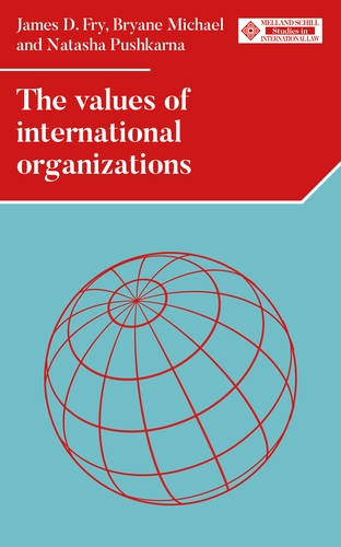 The values of international organizations