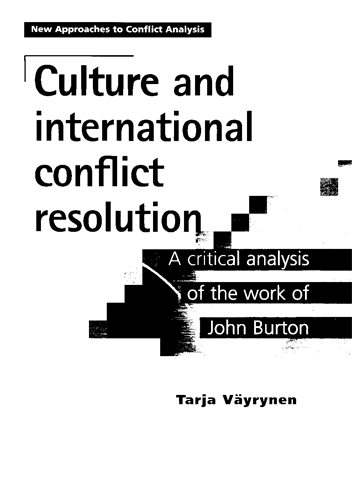 Culture and international conflict resolution